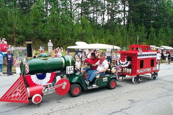 train golf cart