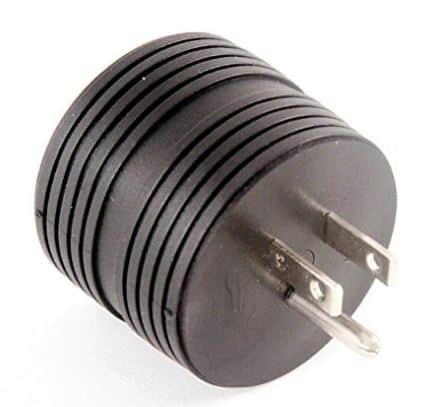 RV Electrical Adapter 15 Amp Male to 30 A Female Plug Round Grip Motorhome