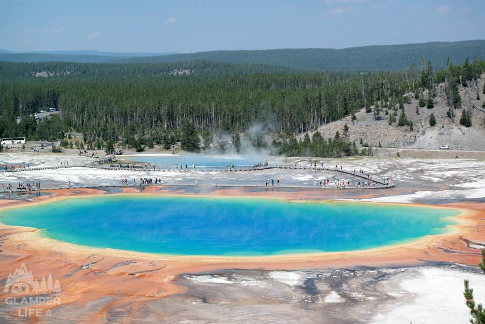 Best View of Grand Prismatic Spring Yellowstone
