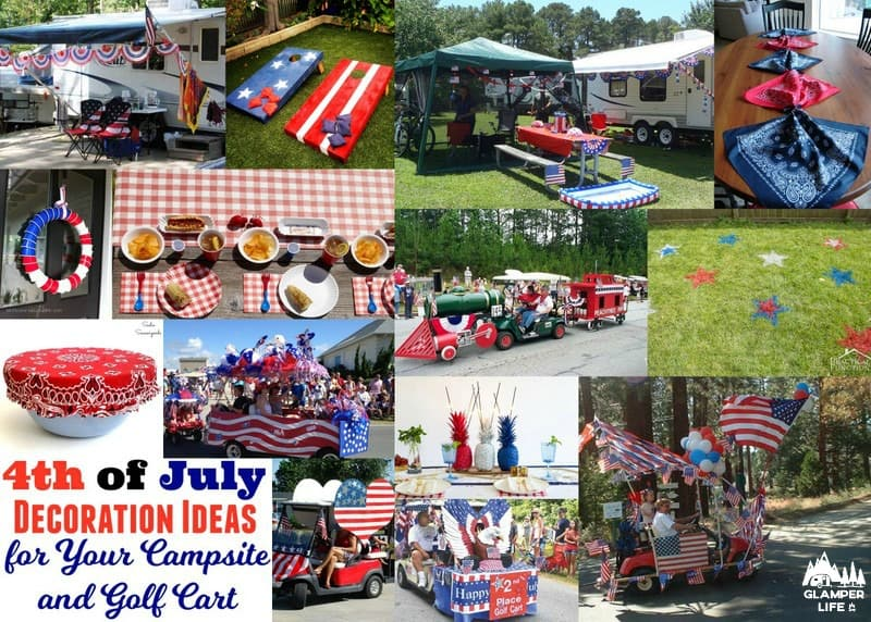 4th Of July Decoration Ideas For Your Campsite And Golf Cart