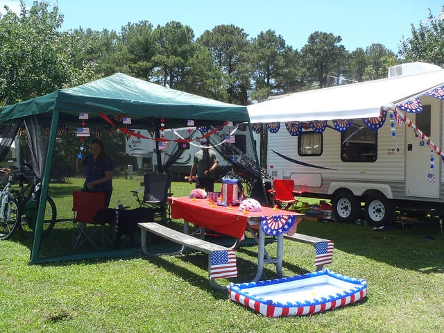4th of july campsite