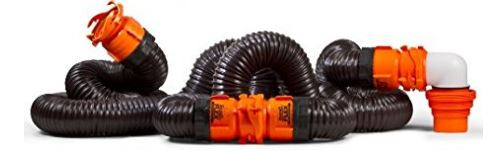 Camco 39742 RhinoFLEX 20' RV Sewer Hose Kit with Swivel Fitting