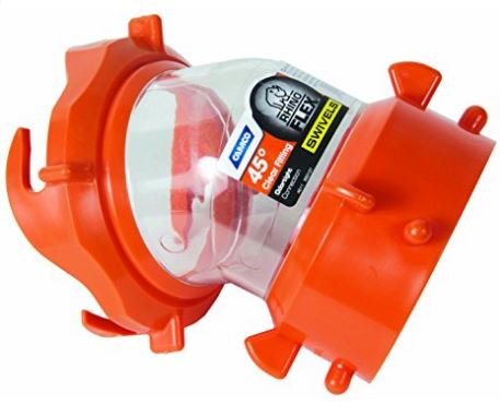 Camco 39847 RhinoFLEX Clear 45 Degree RV Sewer Hose Swivel Fitting