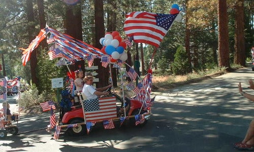 patriotic golf cart 1