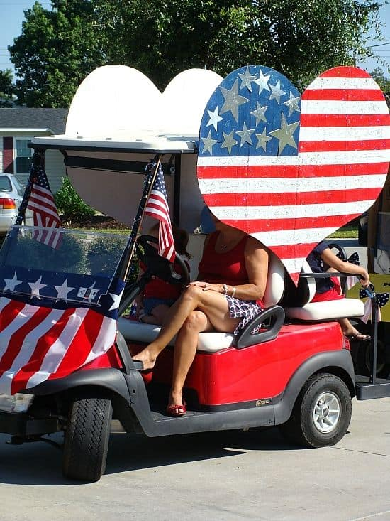 4th of July Decoration Ideas for Your Campsite and Golf Cart ... Patriatic Golf Cart Parade Floats on