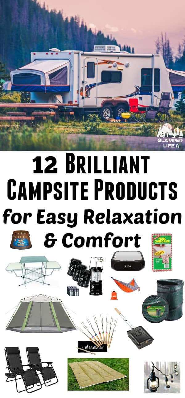 Campsite Products for Easy Relaxation & Comfort