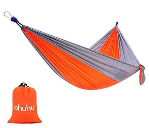 Ohuhu Portable Nylon Fabric Travel Camping Hammock