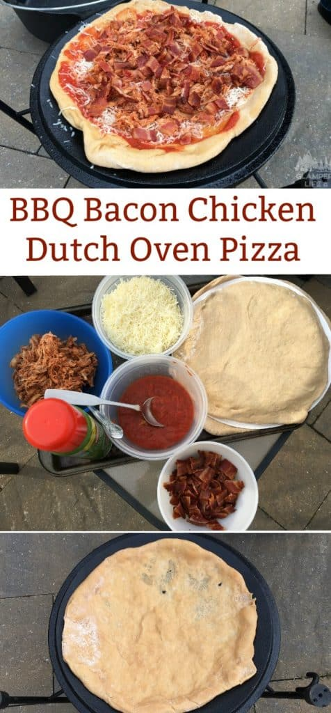 BBQ Bacon Chicken Dutch Oven Pizza