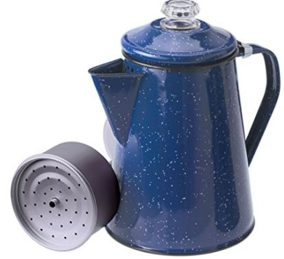 GSI Outdoors 8 Cup Enameled Steel Percolator Coffee Pot