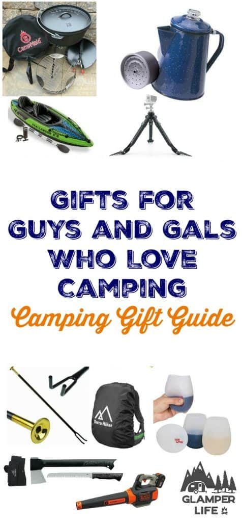 Gifts for Guys and Gals Who Love Camping Camping Gift Guide PIN