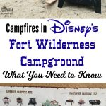 Campfires in Disney's Fort Wilderness Campground