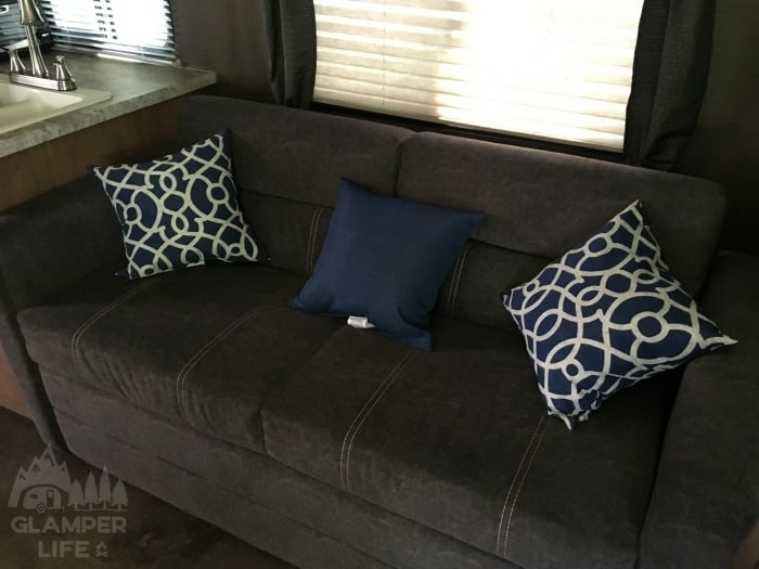Throw Pillows on Camper Couch