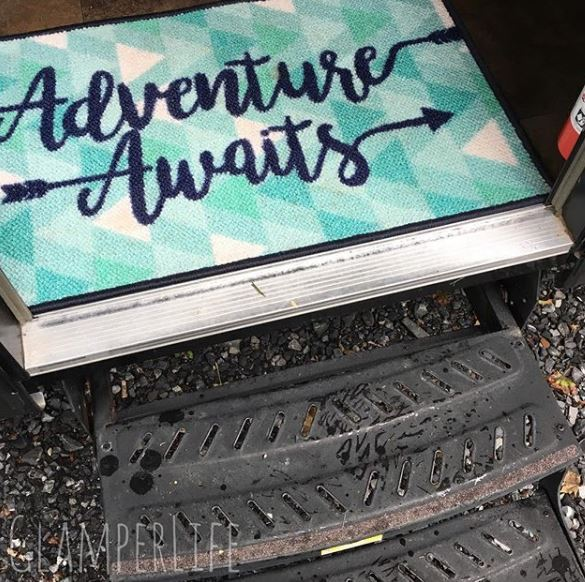 adventure awaits rv welcome mat
