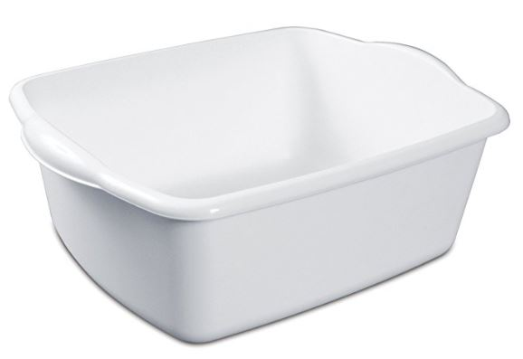 white dishpan