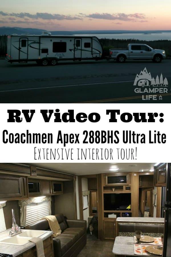 RV Video Tour Coachmen Apex 288BHS Ultra Lite