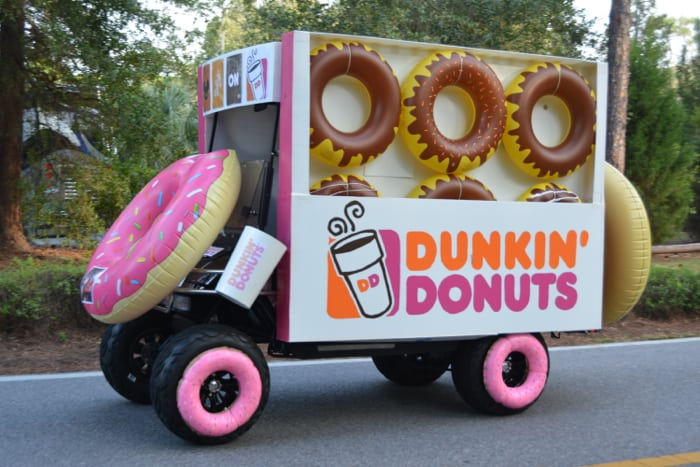 Dunkin Donuts Golf Cart