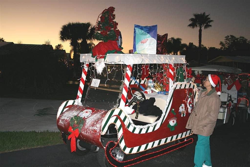 Santa Sleigh Golf Cart