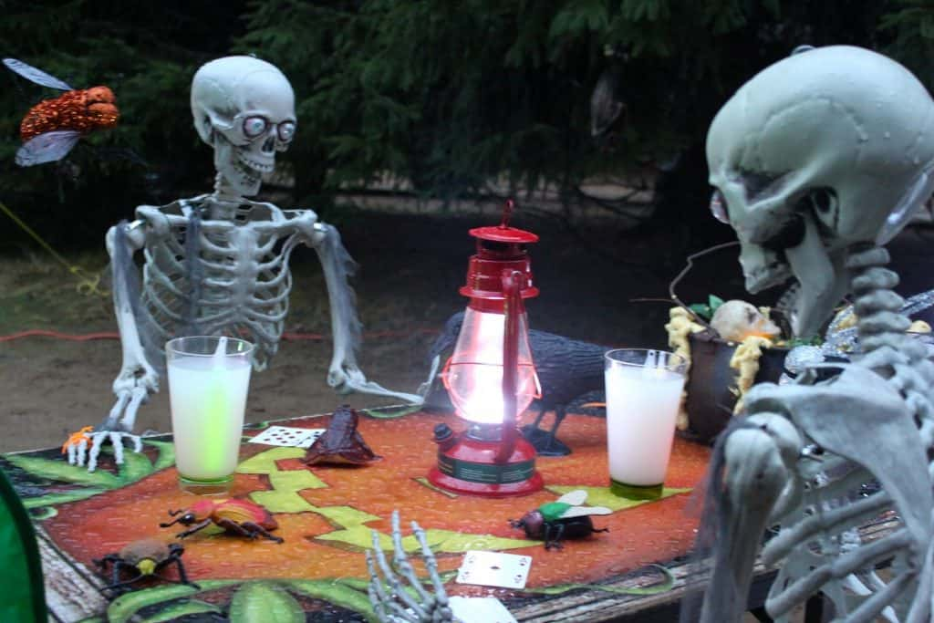 Skeletons Playing Poker