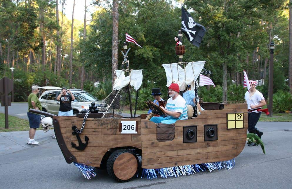 pirate ship golf cart