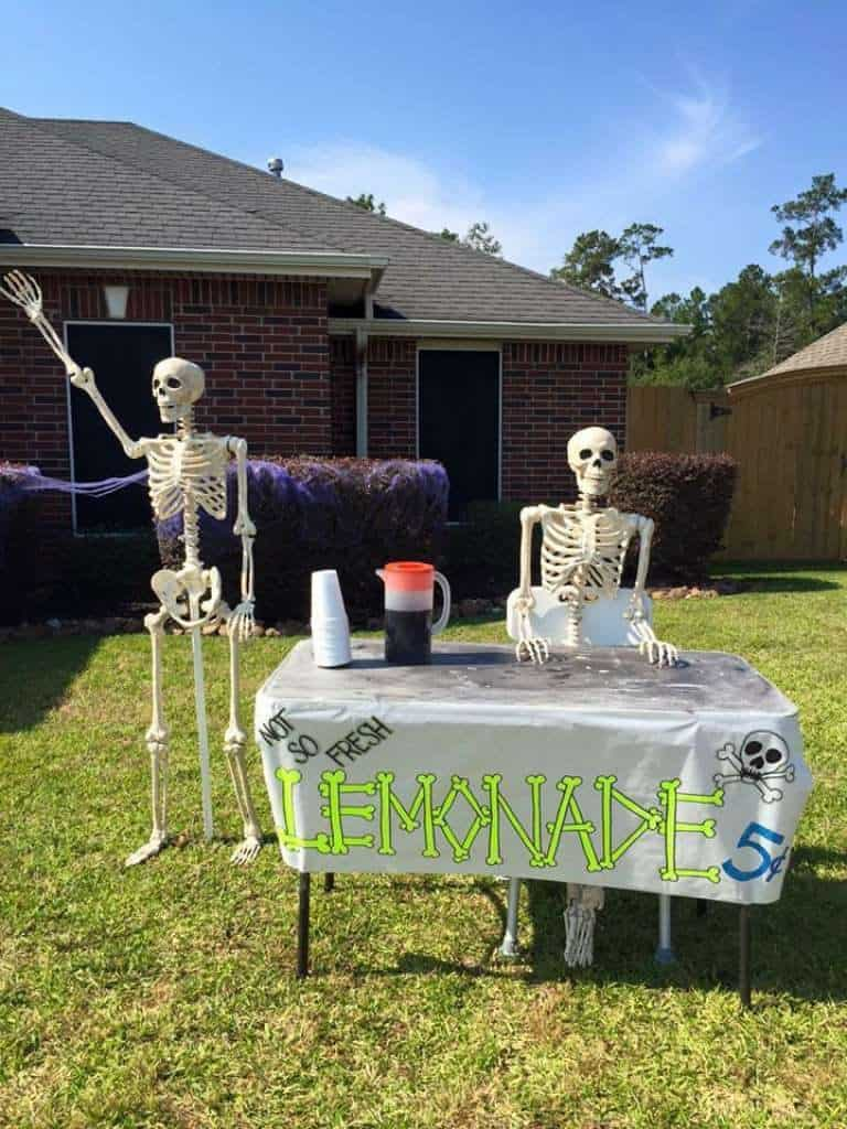 skeleton lemonade stand