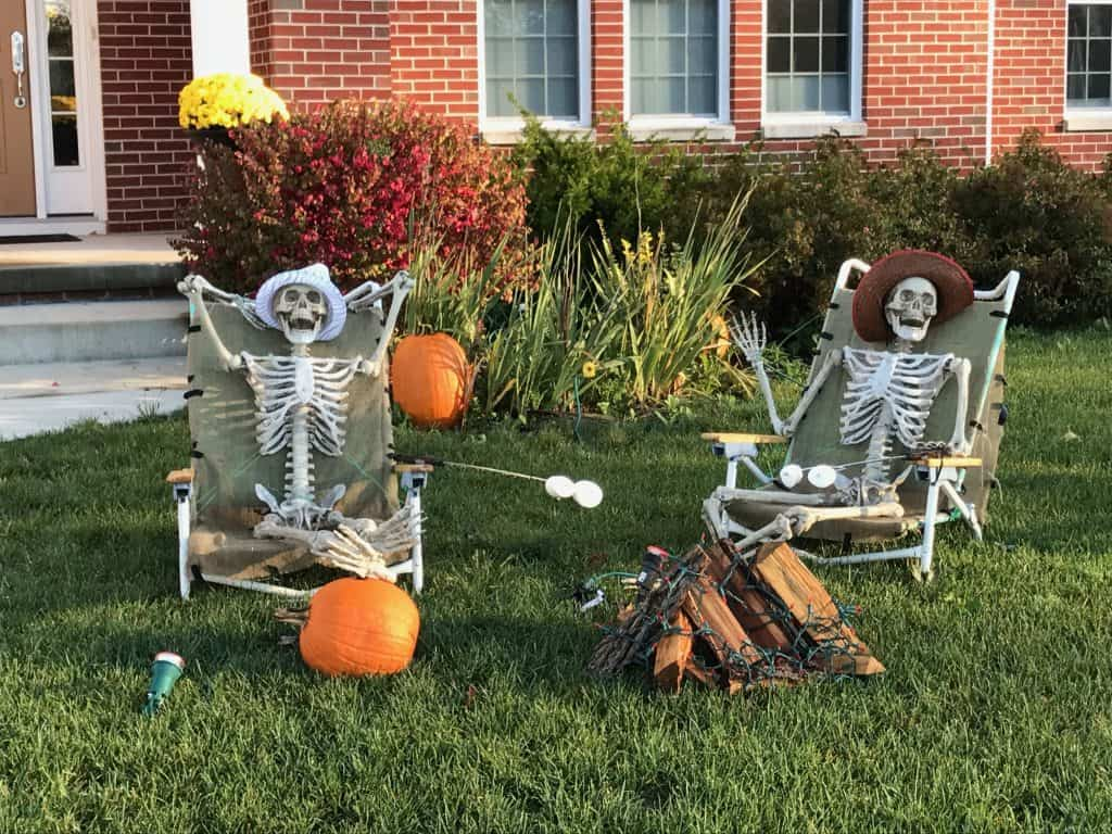skeleton smores