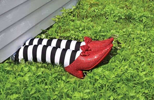 striped witch legs