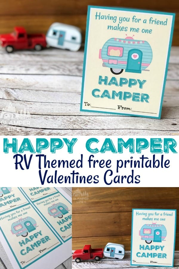 Camping RV Themed Valentines Printables
