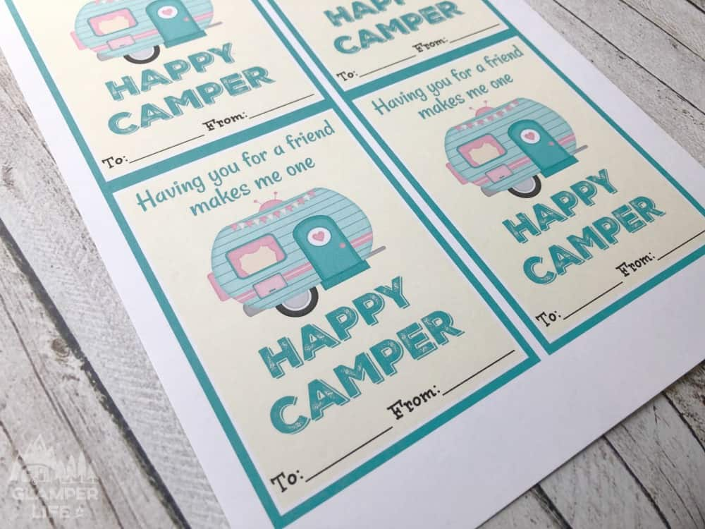 Happy Camper RV Valentines