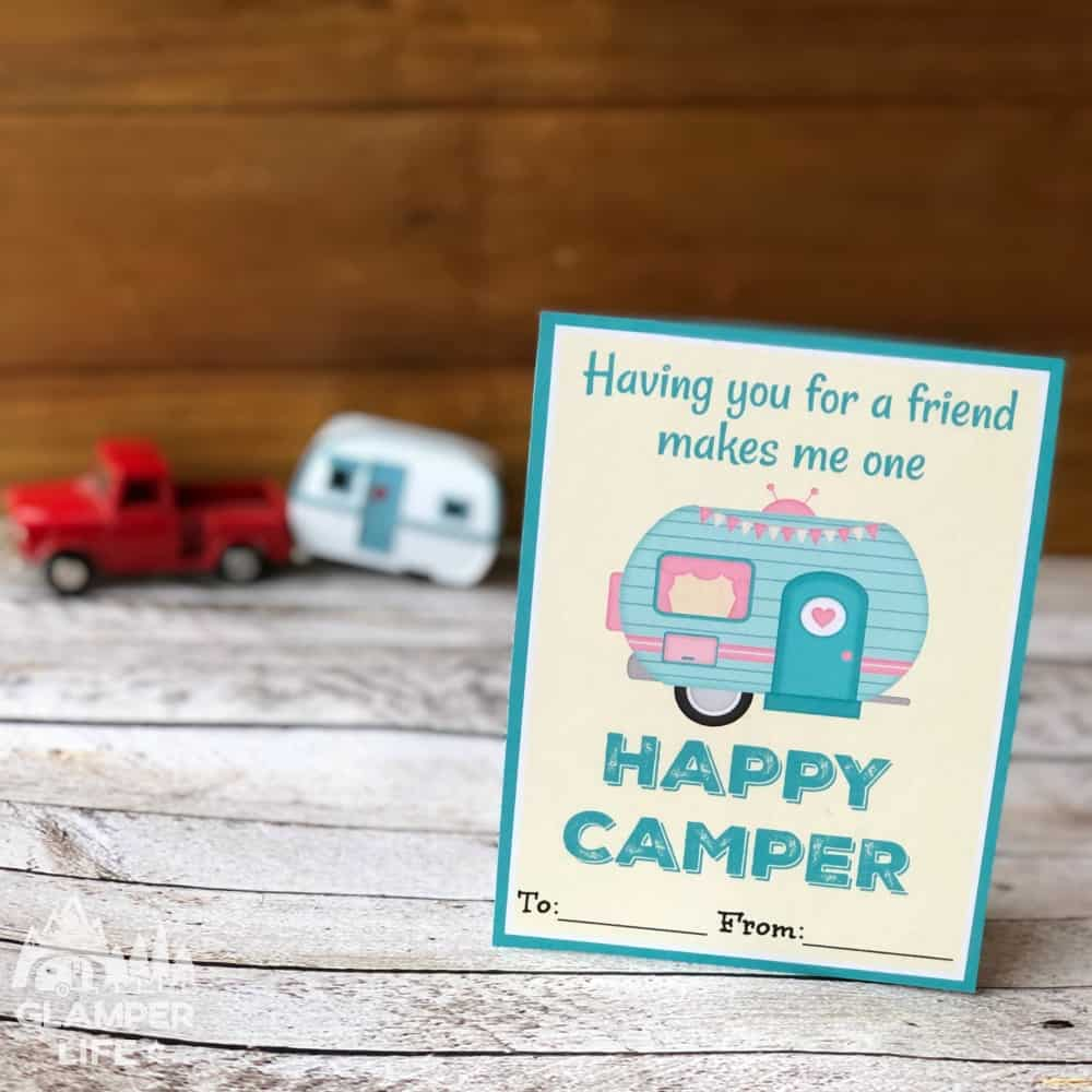 RV Happy Camper Valentines