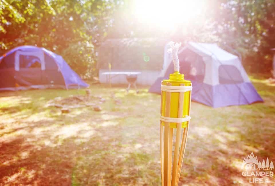 backyard glamping campsite
