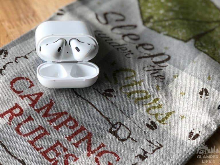 camping dish towel air pods