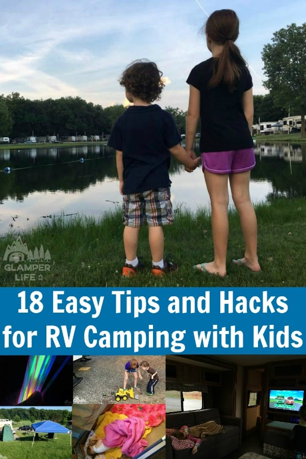 18 Easy Tips and Hacks for RV Camping with Kids PIN