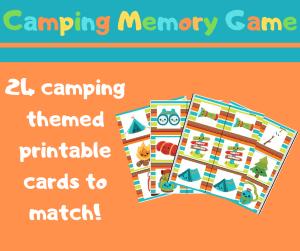 Camping Memory Game