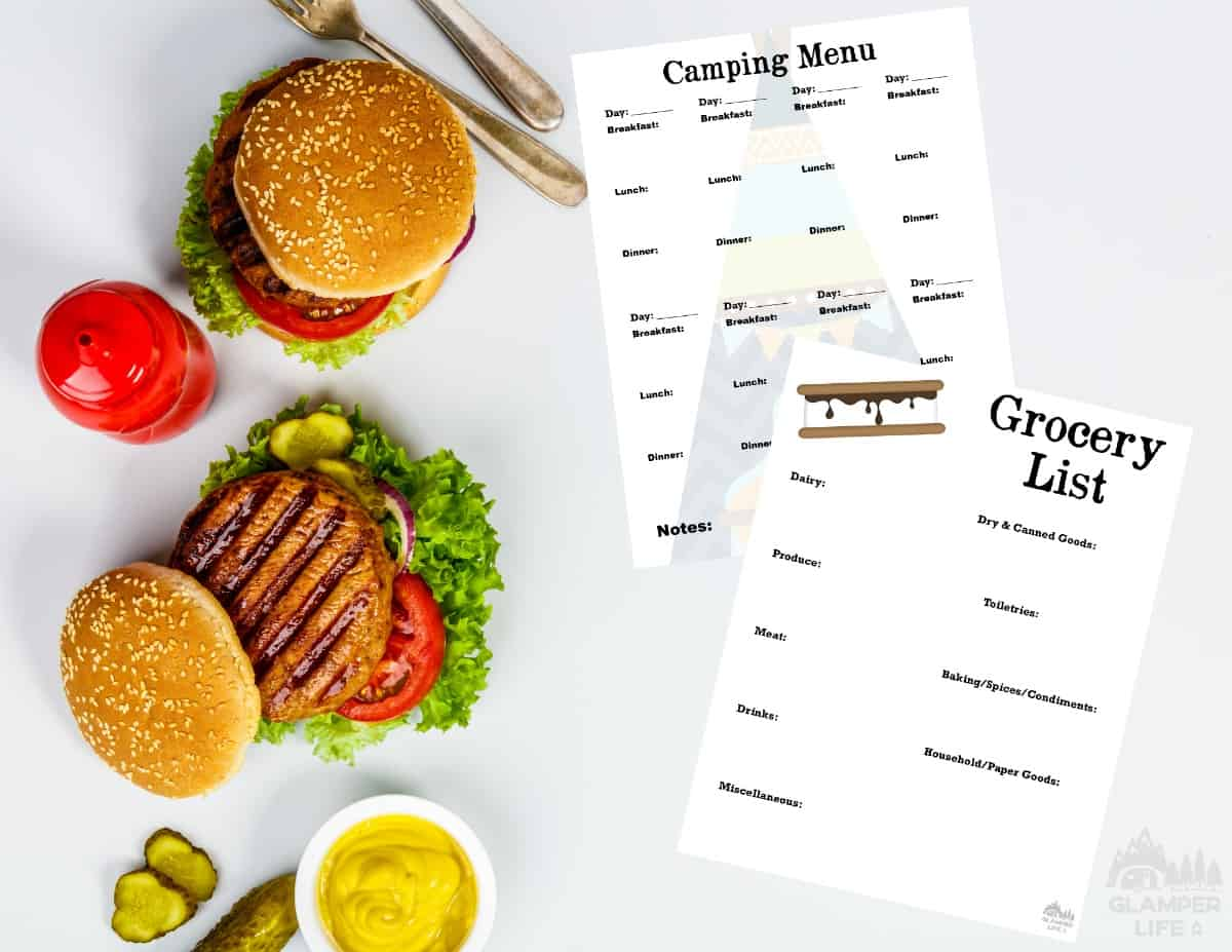 printable camping meal planner