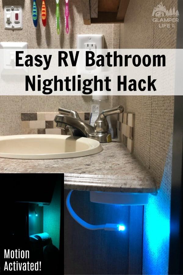 Easy RV Bathroom Nightlight Hack PIN