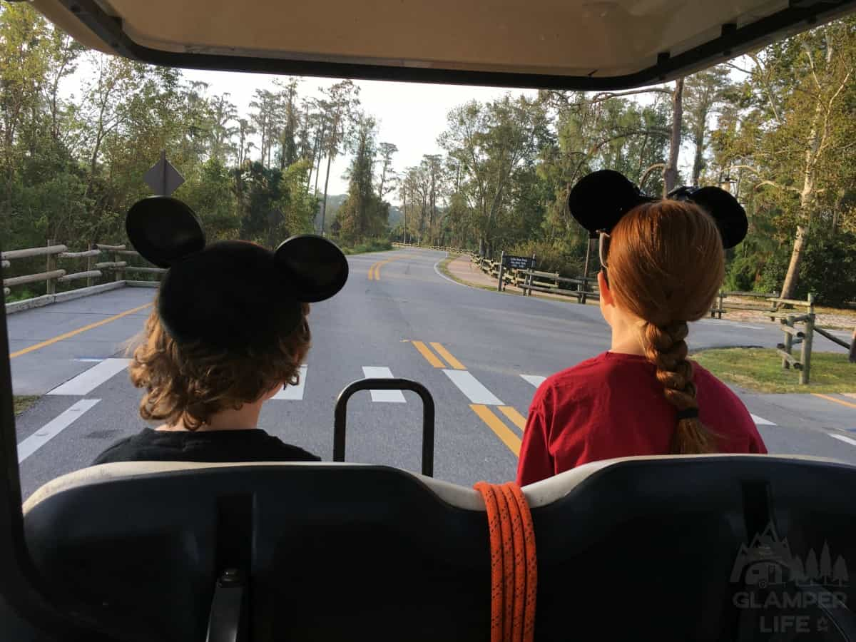 Golf Carts in Disney Fort Wilderness