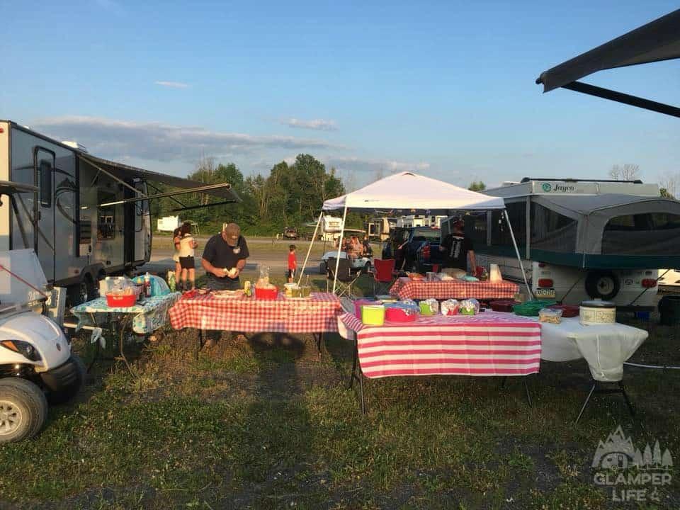 New York Catskills Campground Picnic
