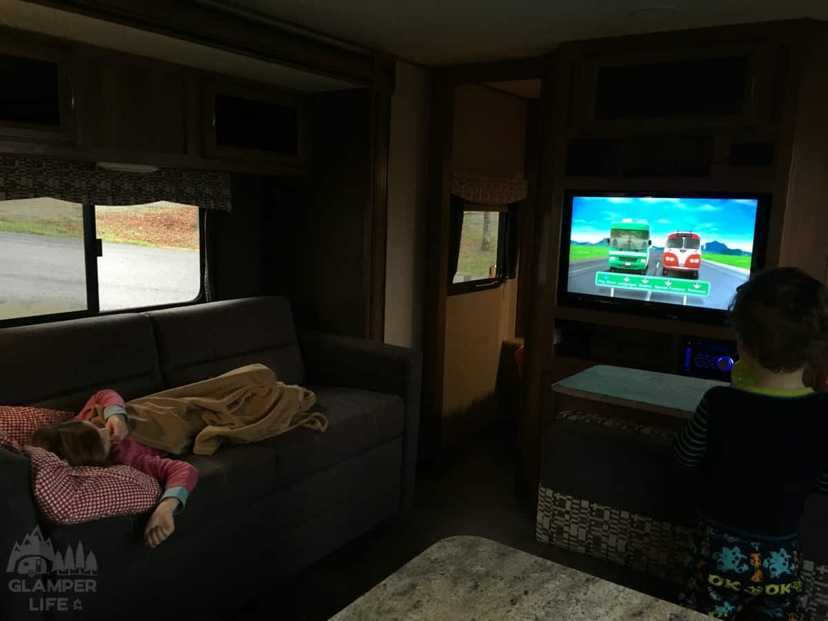 RV Movie in Camper