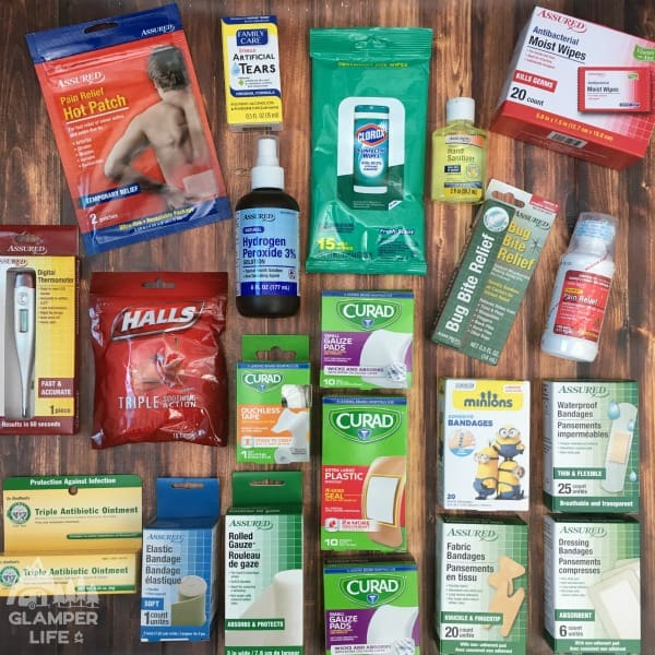 dollar store first aid supplies