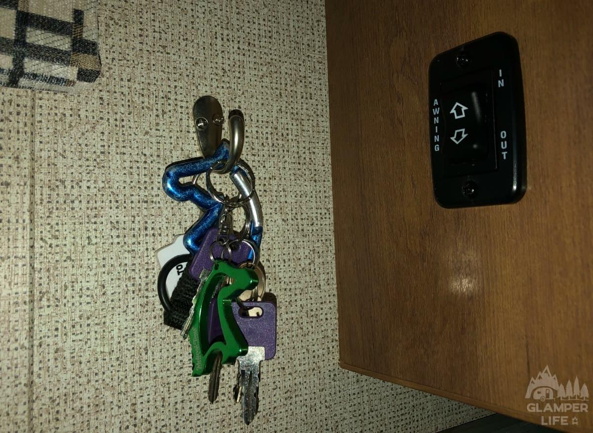 key hook in rv camper