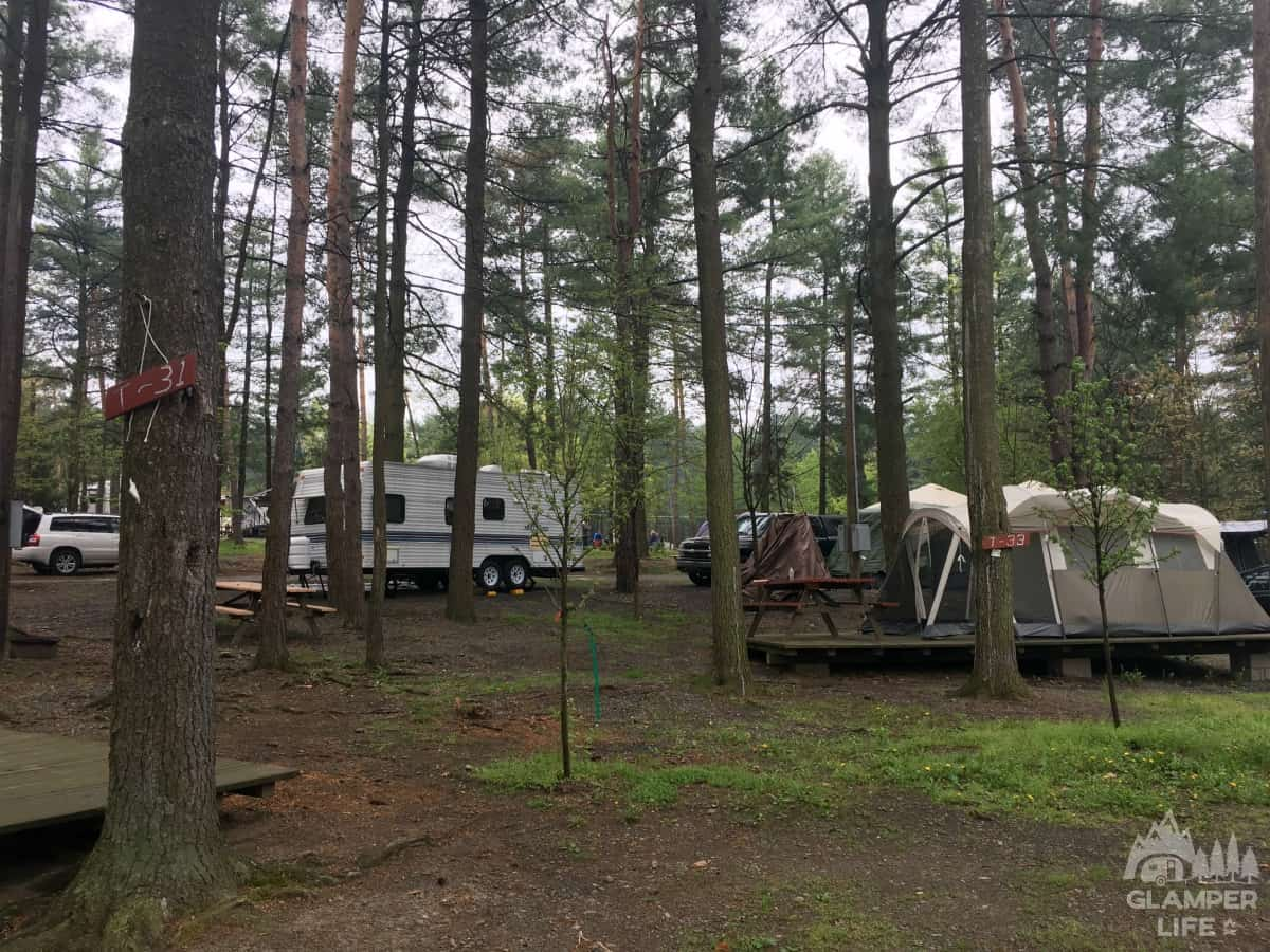 Campsites at Knoebels Campground