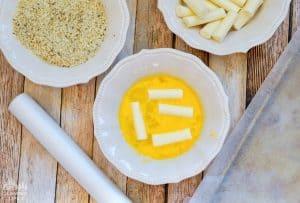 Egg Bath Cheese Sticks