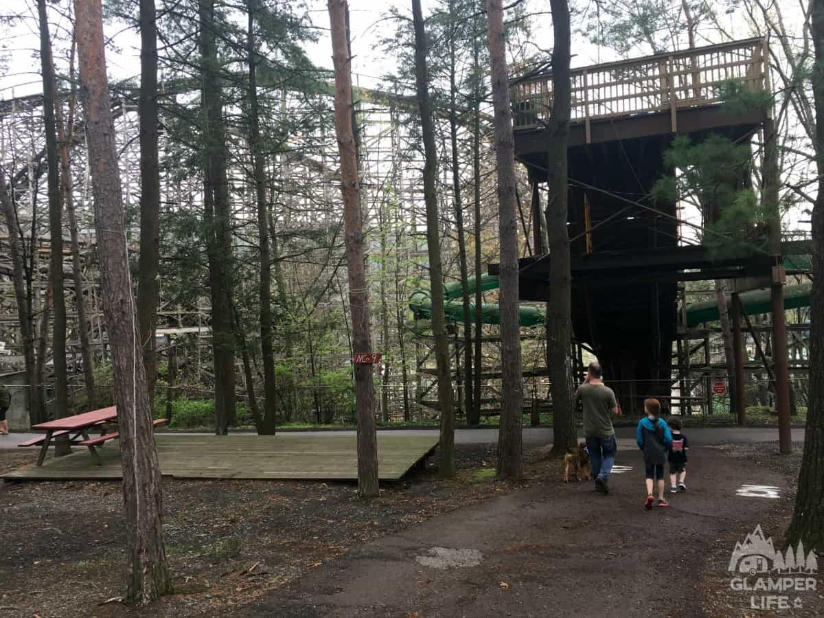 Knoebels Campground Tent Platform