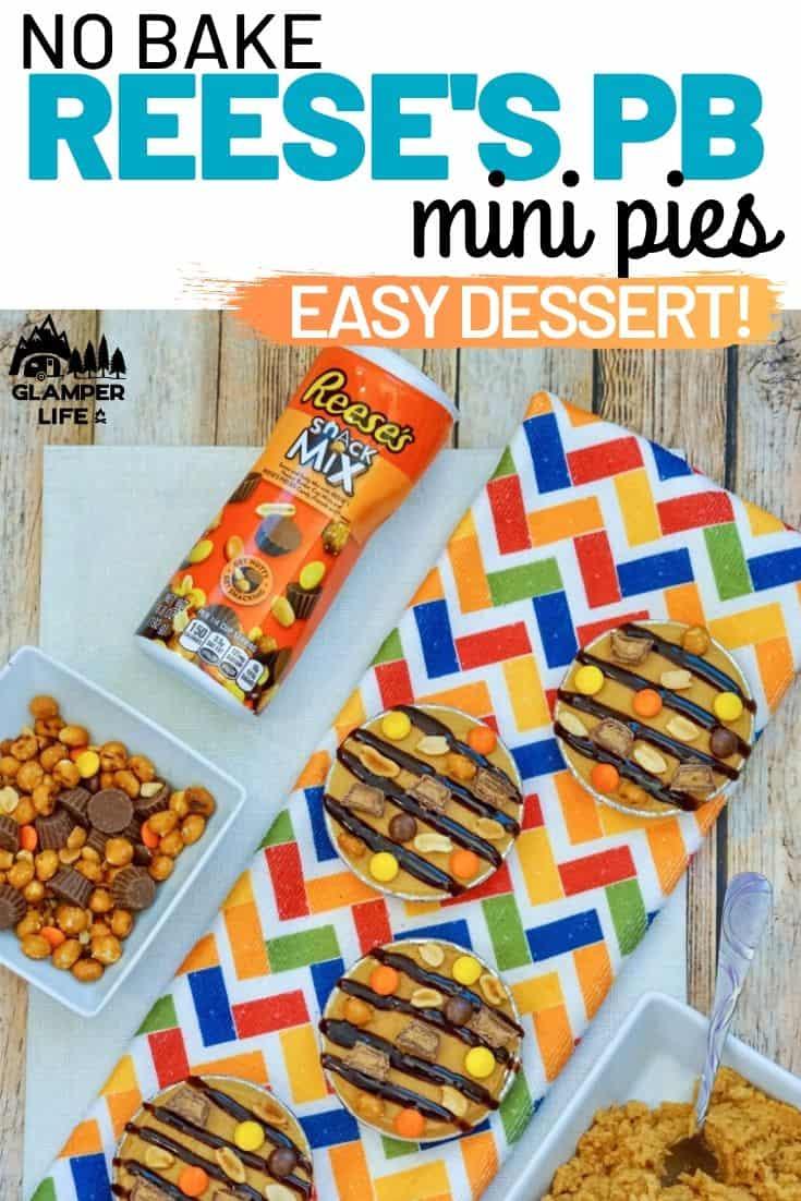 No Bake Reeses Mini Pies PIN