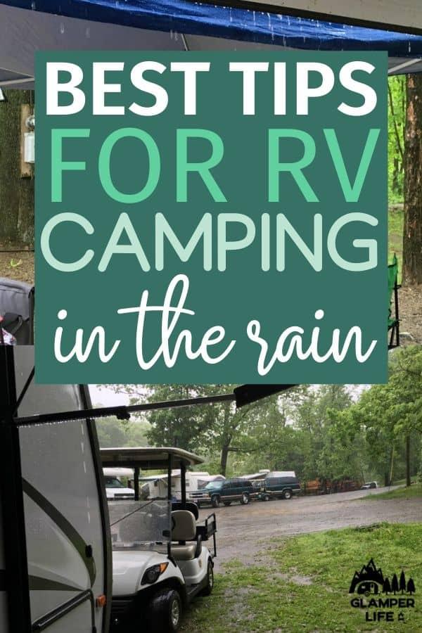 RV Camping in Rain PIN