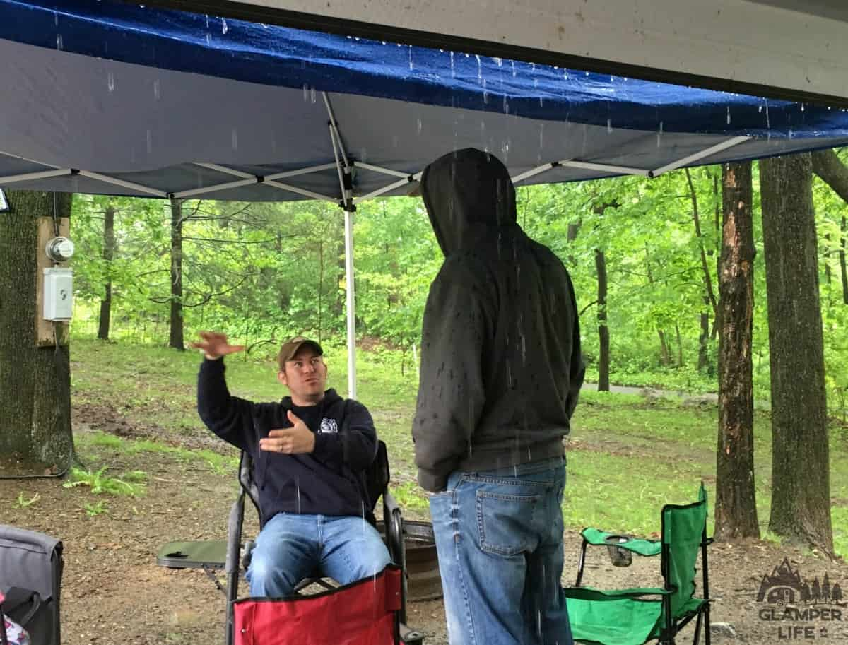 RV Camping in the Rain