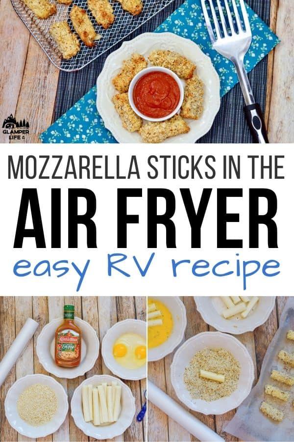 RV mozzarella sticks air fryer PIN