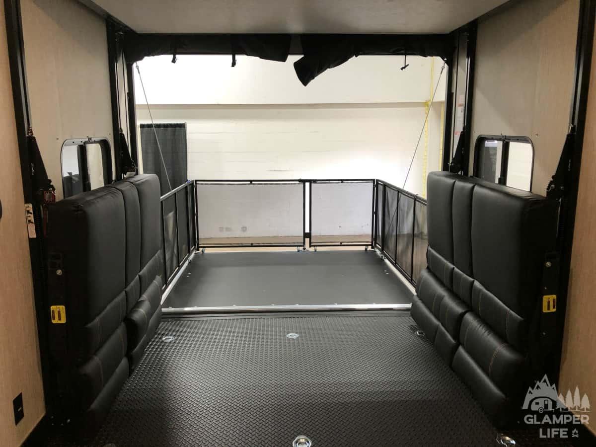 Toy Hauler RV Deck
