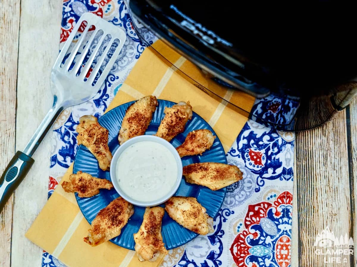 Cajun Air Fryer Wings Meal