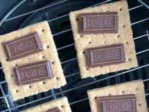 Hershey Chocolate on Graham Crackers